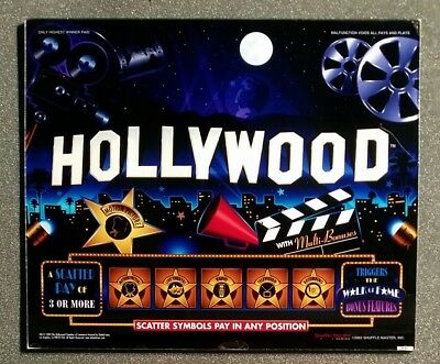 Williams WMS 550 Slot Machine TALL TOP Glass HOLLYWOOD
