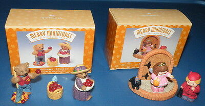Apple Harvest and Bashful visitors Hallmark Merry Miniatures 1997