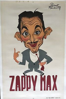 Original Vintage Poster Zappy Max by Robert Maudouit 1947