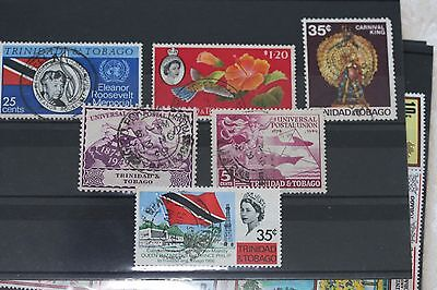 Trinidad, card of used stamps- lot  210