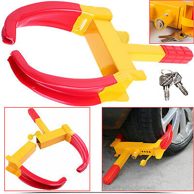 Wheel Clamp Lock Cars Trailer Caravan Security Anti Theft Car Locking Heavy Duty