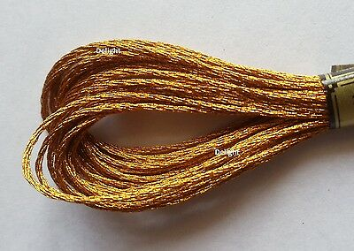 Anchor Light Effects Embroidery  Metal Gold  Effect Color Floss thread M-101