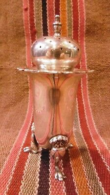 Mappin and Webb Birmingham 1912 Antique Sterling Silver Salt  Pot shaker