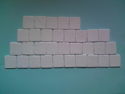 50x dolls house large roof tiles / paving slabs