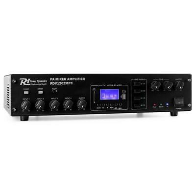 Power Dynamics Mp3 4-Channel Pa Amplifier 4-Zone 120W Audio
