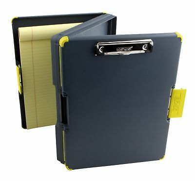 Duo Clipcase Dual Sided Storage Case And Organizer Yellow Clipboard Box Office