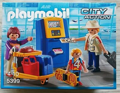 Playmobil 5399 City Action  - Familie am Check-in Automat Neu & OVP