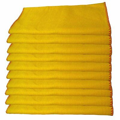 10 Pack of Heavy Duty Yellow Dusting Dusters / Cleaning Cloths EXPRESS DELIVERY
