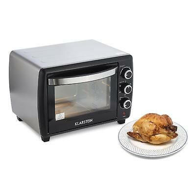 Electric Kitchen Small Oven 30L Food Kitchen Grill Chicken Meat Fish 1500W Black