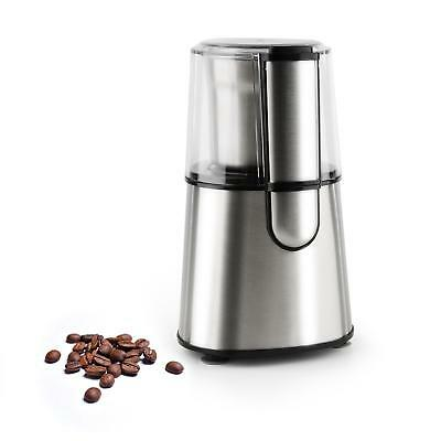 Klarstein Portable Coffee Beans Grinder Nuts Crusher 200 W 65 G Silver Gift Xmas