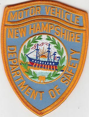 "New Hampshire Department Of Safety ""motor Vehicle"" Police Shoulder Patch Nh"