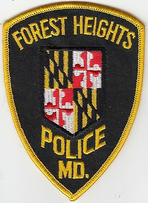 Forest Heights Police Shoulder Patch Maryland Md
