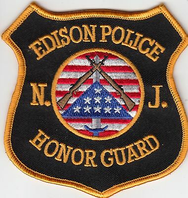 Edison Police Honor Guard Patch New Jersey Nj