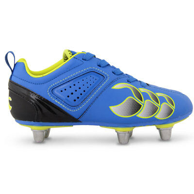 Canterbury CCC Phoenix Club Junior 6 Stud Rugby Boots Victoria Blue Sulpher