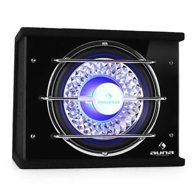 "Auna 10"" Car Hifi Enclosed Bass Box Subwoofer 600 W Led Lights Sound Audio"