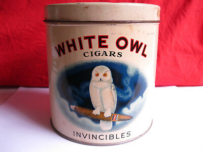 "White Owl Cigars Tin ""Invincibles"" Excellent Condition"