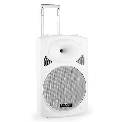 Powerful Durable Portable Pa System Outdoor Indoor Speaker Headset Mic Usb White