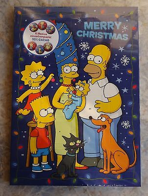 "(10,83€/100g) Adventskalender SIMPSONS ""Merry Christmas"", blau"