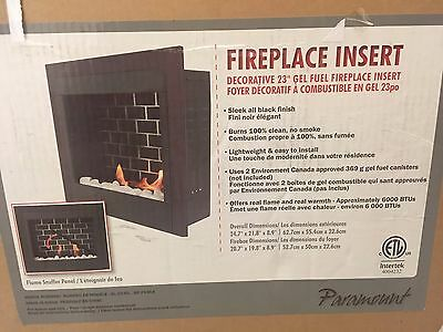 Paramount GF-23-BLK Highland Gel Fuel Fireplace Insert