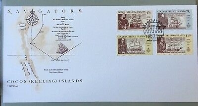 1990 Cocos Keeling Islands Navigators Stamps First Day Cover Card