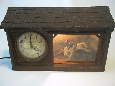 "Vintage 1950s Haddon ""The Ranch O"" Animated Motion Bucking Riding Cowboy Clock"