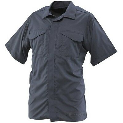Tru Spec 1047003 Men's Navy Polyester Ultralight SS Uniform Shirt - Size Small