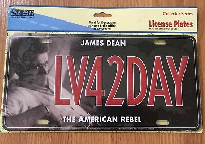 COLLECTORS SERIES LICENCE PLATE James Dean License Plate