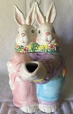 Vintage Ballroom Dancing Easter Bunnies Teapot The Good Company?