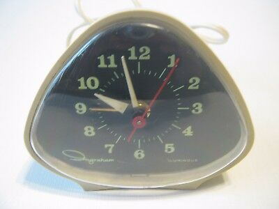 Vintage 1950s Ingraham Luminous Triangle Alarm Clock