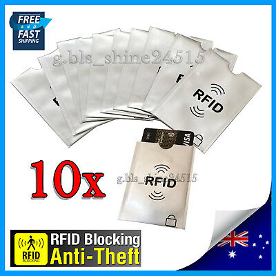 10x RFID Secure Sleeve Credit Card AntiScan Protect Case Shield Holder Travel