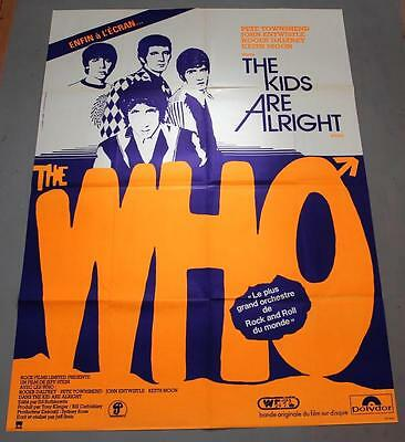 THE WHO The Kids Are Alright - mega rare original French BILLBOARD movie poster