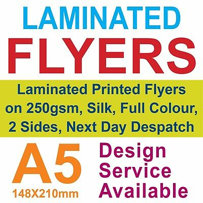 Laminated Flyers / Leaflets on 250gsm Silk, Full Colour, 2 Sides