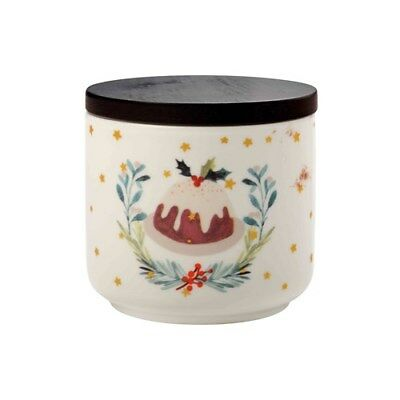 New Maxwell & Williams Lappland Canister Christmas Pudding 10x8.5cm