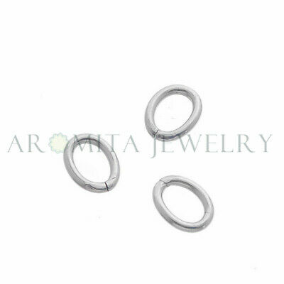 100pcs Stainless Steel Oval Open Jump Rings Jewelry Findings 8x6mm 17 GA