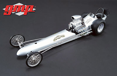 GMP 1:18 Chizler V The Vintage Dragster in Silver #18847