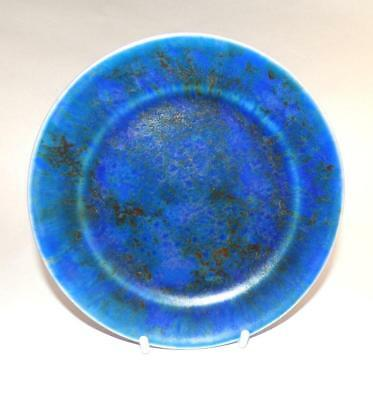 Clews Chameleon Ware Art Pottery Side Plate 16cm Dia in Cobalt Blue