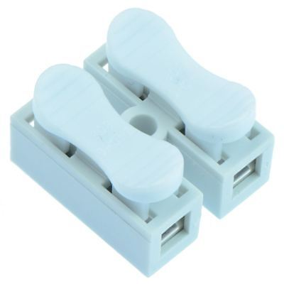 10 x 2-Way Screwless Spring Wire Connector Terminal Block