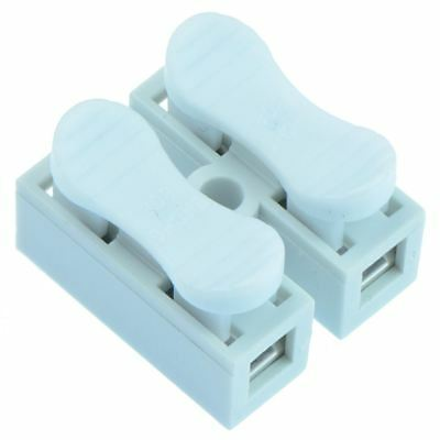 25 x 2-Way Screwless Spring Wire Connector Terminal Block