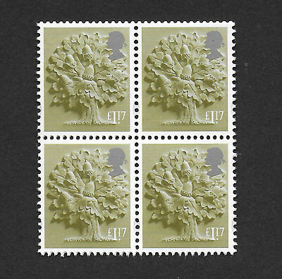 1) GB Stamps 2017 England Definitive £1.17 Block of 4 Mint NH.