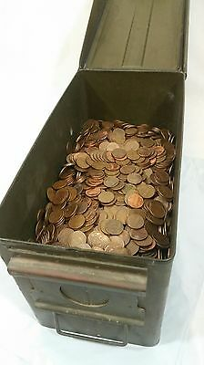 Machine Sorted 700+ Copper Pennies Pre 82 Bullion 5 LBS Bulk Errors Wheats