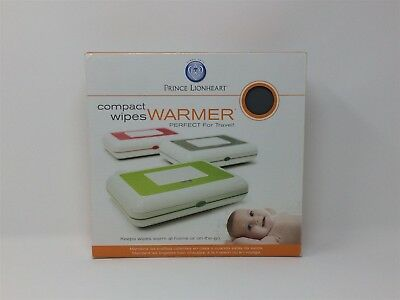 Prince Lionheart Compact Wipes Warmer, White and Grey