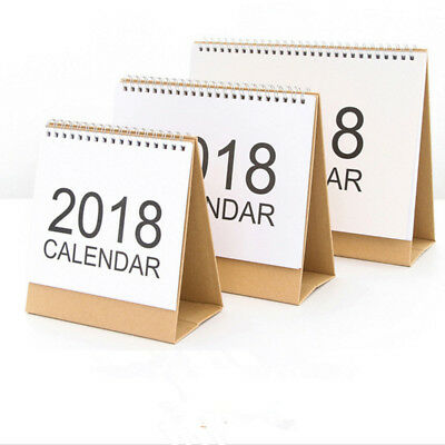 2018 Desk-Top Flip Calendar Month To View Stand Up Office Home Table Planner