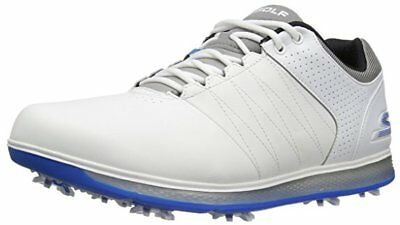 1816e0bb8e88 Skechers Performance Men s Go Golf Pro 2 Golf Shoe White Gray Blue 54509