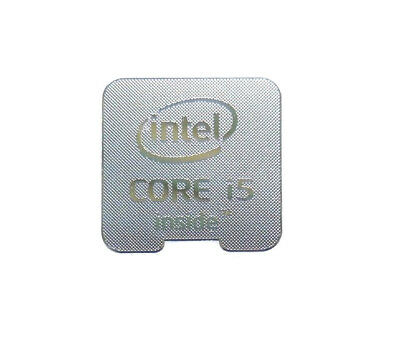 NEW VERSION Intel Core i5 Inside Silver Metallic Stickers 7 vinyl 10 8 Windows