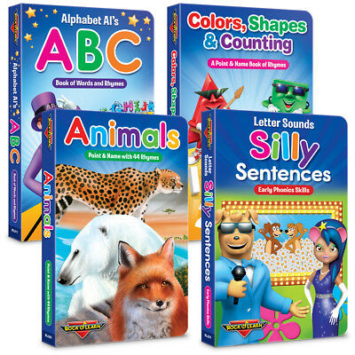 4 Board Book Collection (New) by Rock 'N Learn
