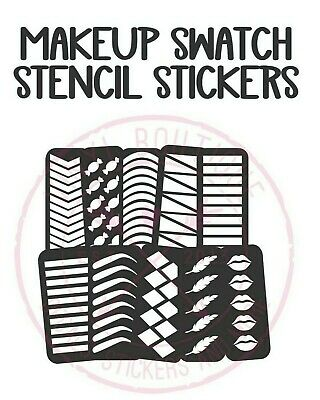 40 Styles Makeup Swatch Stencil Shape Sticker Lipsense Eyeshadow Palette