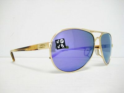 new OAKLEY TIE BREAKER Polarized Sunglasses Gold/Violet Iridium OO4108-14