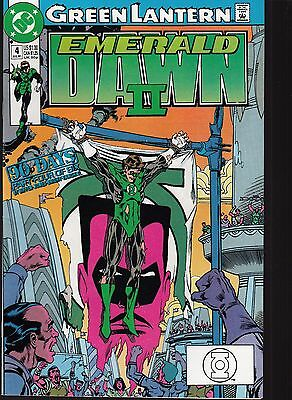 GREEN LANTERN  #4 1991 DC -EMERALD DAWN II  P4/6 LIMITED SERIES GIFFEN-s....FN