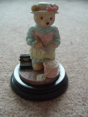 Regency Fine Arts Ornament Elizabeth Teddy Bear with Book and Typewriter