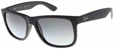 Ray-Ban Justin Sunglasses RB4165 622/T3 Black | Grey Gradient Polarized | BNIB
